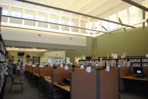 Computers at the Carver Library branch, photo courtesy of Google.