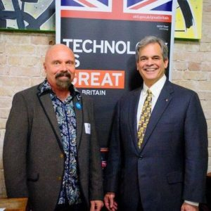 Fred Schmidt, international director of Capital Factory and Austin Mayor Steve Adler.  Courtesy Photo.