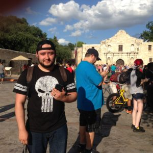 Tommy Arredondo, organizer of the Pokemon Hunt in downtown San Antonio and head of the Pokemon Go Facebook Group.