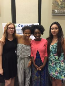 College Safe Search Team mates Amanda Chandler, Mali Nichols, Aja Boateng, and Karla Coronado.