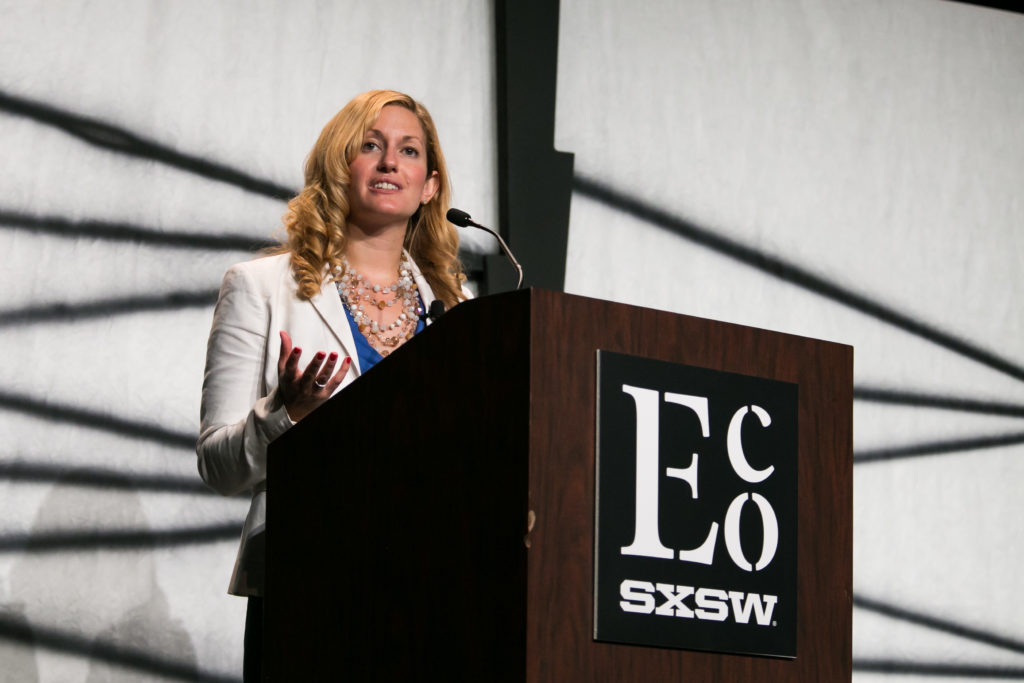 Kate Brandt, photo courtesy of SXSW Eco, taken by Diego Donamaria