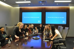 Girls Who Code having fun at the Dell Campus, courtesy photo.