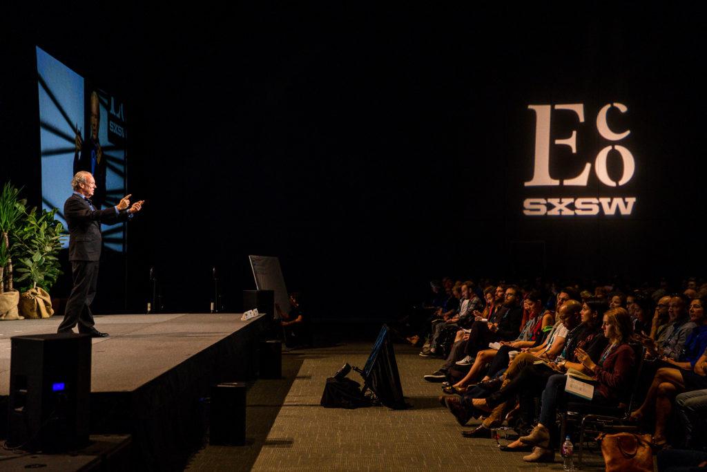 William McDonough keynote, photo by Steve Rogers.