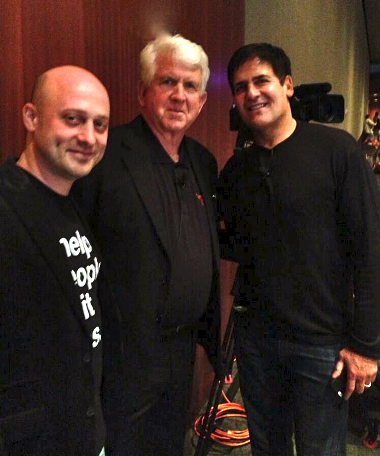 Photo of Mark Cuban & his friend  Bob Metcalfe