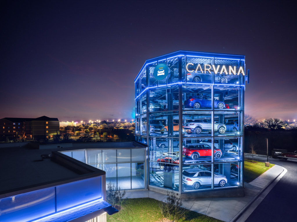 Carvana Opens A Coin Operated Car Buying Vending Machine