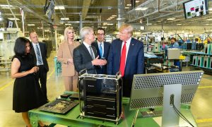 President Trump Tours Plant with Apple CEO Tim Cook and Apple Begins Construction on its $1 Billion Campus Nearby